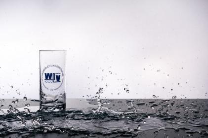Objektfotografie Glas Wasserspritzer